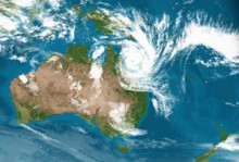 Cyclone Yasi Satellite Picture